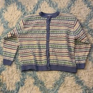 Pastel Button Up Sweater